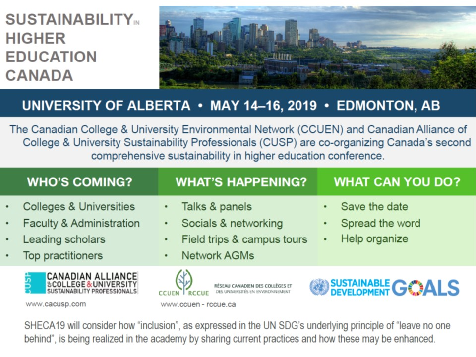 2019 Conference | Canadian College and University Environmental